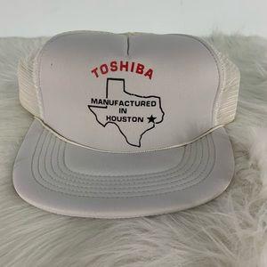 Vintage Accessories - Vintage Toshiba StrapBack Trucker Hat